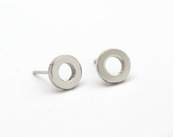 Circle Stainless Steel Earring Post Finding (E1116)