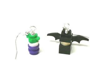 Bats and the Joke Earrings