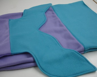 Mermaid Tail Turquoise and Light Purple Fleece Blanket Baby Toddler Child Tween Kids Choose Size READY TO SHIP