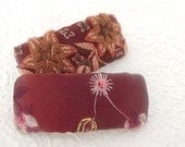 Wine barrette,  floral barrette, fabric barrette, hair accessory, fashion accessory