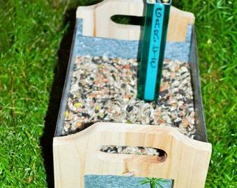 Garlic Garden Stake, Gardener, Gift Plant Stake, Garden Stake