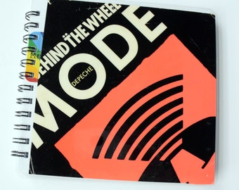 Depeche Mode Behind the Wheel  // Record Journal & Sketchbook // Recycled 45 Album Cover