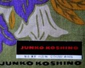 Junko Koshino Handkerchief - Japanese - Designer - Vintage - NOS - Label - Hankie -