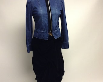 Marching Band style fitted Denim Jacket