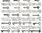 ON SALE Keys from Catalogue 2 - 1923 Page Scan, Instant Digital Download CA002