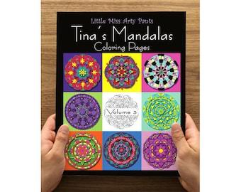 Mandala Coloring Book - Printed Coloring Pages in Folder -  Volume 3