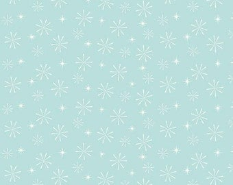 25% OFF Riley Blake Nutcracker Christmas Snowflake Aqua