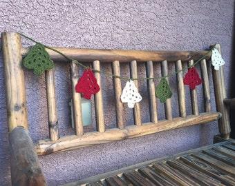 Christmas Tree Crochet Garland
