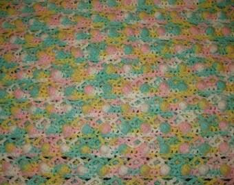 Lovely Pastel Variegated Baby Blanket Christmas Gift Present  Newborn Boy or Girl Baby Shower New Mom