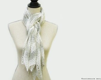 CROCHET PATTERN - Chevron Lace Scarf - Instant Download (PDF)