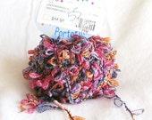 yarn, novelty yarn, ribbon, destash, multicolor, Portofino 59, Laines du Nord, F, destash