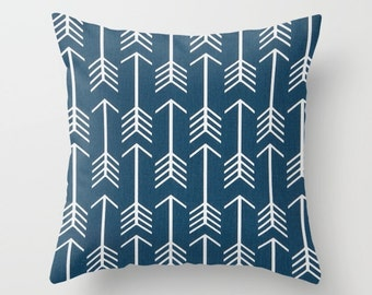 Arrows Pillow Cover Navy Pillow cover Tribal Pillow Accent Pillow Size Choice Accent Pillow