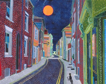 Farrier Street (Deal). A ltd edition, numbered and signed A4 print from an Original Painting by Richard Friend
