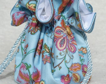 Pretty in Blue Jewelry Pouch, Jewelry Travel Organizer Pouch: perfect for bridesmaids