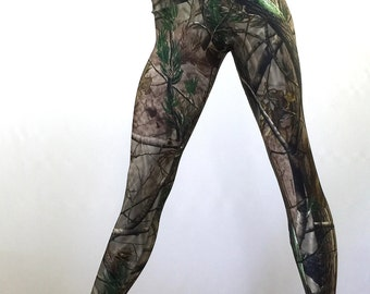 Camo Pants Camoflauge Hot Yoga Fitness Legging Low Rise SXYfitness Brand Item 1293 Sizes xxs-xxl (00-18 US) made in the USA