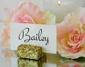 Place Card Holders + Gold Glitter Place Card Holders - Set of 25