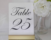 Table Number Holder + Gold Wedding + Gold Table Number Holders- Set of 10 (5inch)
