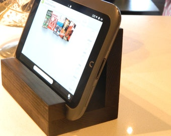 Rustic Wood Tablet Stand + iPad Cookbook Stand +  (6 inch)