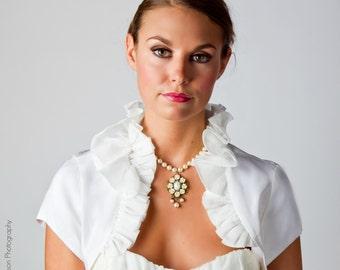 Plus Size Wedding Dress Topper - Plus Size Bridal Topper - Plus SIze Wedding Bolero - Marcella