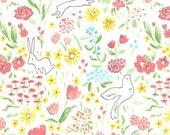 Sarah Jane , Michael Miller Sommer Pre-Sale, Garden, Pastel- 1/2 Yard-Free Shipping in the USA with orders over 50 dollars