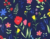 Sarah Jane , Michael Miller Sommer , Plockade in Navy- 1/2 Yard-Free Shipping in the USA with orders over 50 dollars