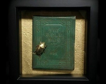Loved To Death Original Insect Diorama { The Gold Bug } Poe Shadowbox