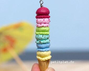 Custom Ice Cream Necklace, Summer Jewelry