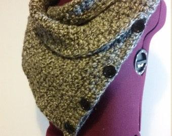 Unisex collar scarf handmade crochet