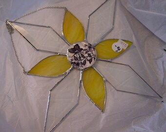 Stained Glass Suncatcher - Bevels and   Butterflys