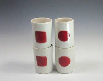 Wine Tumblers - Ceramic Tumblers - Pottery Tumblers - White and red tumblers - Whiskey Cups - Rocks Cups - Juice Cup - Shot Glasses - Vase