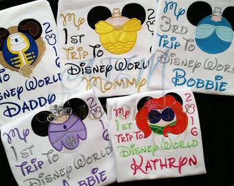 Vacation Shirt 1st Trip 2nd Trip 3rd Trip to Disney World or Disneyland ADULT SIZES Choose any mousehead in my store