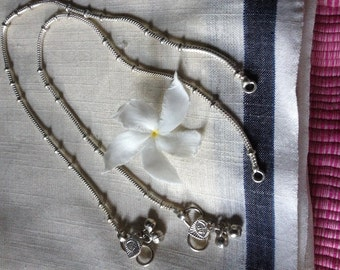 Authentic Indian Snake Chain Anklet - single OR pair