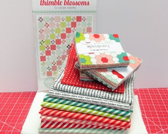 Candy Stripes Quilt Kit Pattern by Thimble Blossoms featuring Handmade by Bonnie and Camille