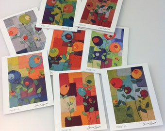 Poppies Notecards- Set of eight