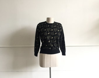 Vintage Acorn, Oak Leaf Cropped Sweater.