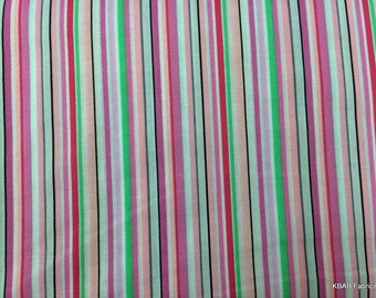 Pink Green Stripes Co-ordinates with Butterfly Patch Custom Sewn Curtain Valance NEW t6/7