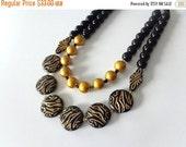 Black gold statement necklace