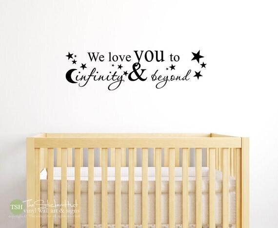 Beyond Words Customizable Wall Decor Kohls : We love you to infinity beyond nursery decor vinyl