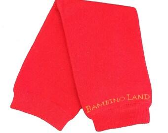 Organic Baby Leg Warmers Red