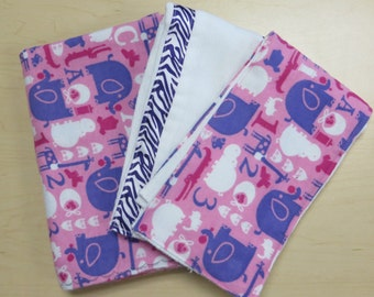 baby shower gift for girls_large receiving blankets_abc animals