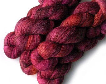Lace Yarn Baby Alpaca, Silk and Cashmere - Campari, 1300 yards