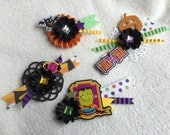 Scrapbook Embellishments...4 Piece Set of Very Cute and Spooktacular Halloween Clustered Handmade Card/Scrapbook Embellishments