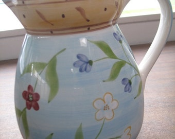 Beautiful Floral Pitcher