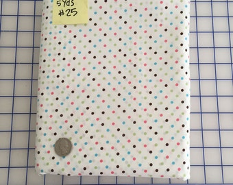 "White Aqua Brown Hot Pink Green 1/8"" POLKA Dot #25 Robert Kaufman Pimatex Cotton Quilt Dress Fabric Basics - Soft White by the Yard"