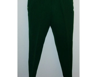 SALE Vintage 50s 60s Forest Green High Waisted Stirrup Pants Slacks Ski Pants