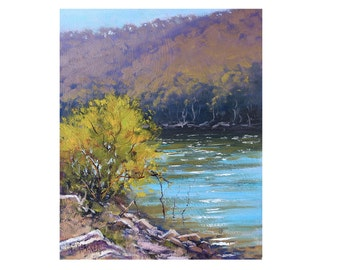 Plein Air Landscape Lake Lyell  Original oil Painting Graham Gercken