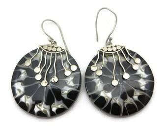 Sterling Shell Earrings - Boho Beach Jewelry