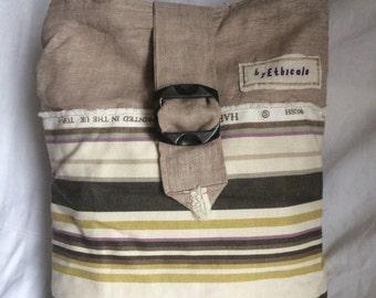 OOAK Recycled and Vintage Deep Shoulder Bag No. 2
