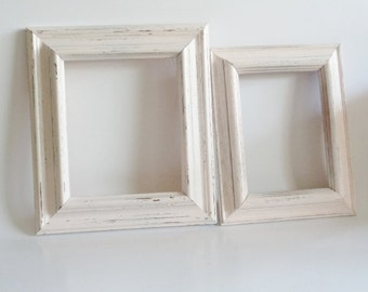 Shabby Chic Wood Picture Frame Set of 2