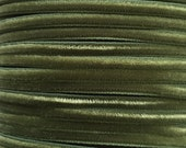 2 Yards Tiny Velvet Ribbon Trim Sage Green 1/8 Inch Wide 3.175mm Wide